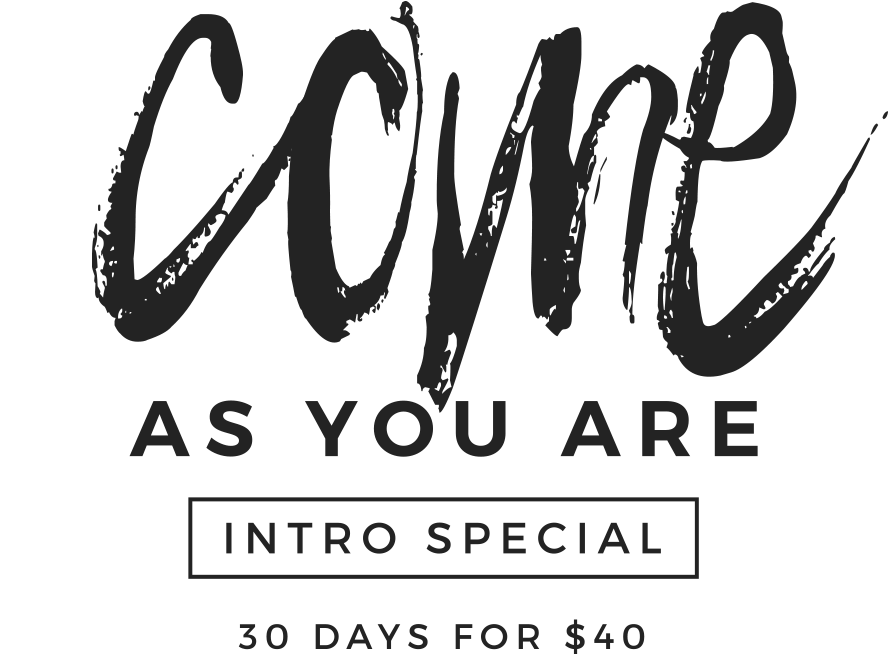 Come as you are, in the Power Yoga Canada class; intro special 30 days class at $40